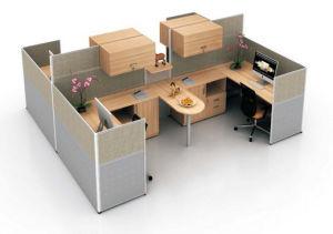 Wooden 2 Seats L Shape Office Desk Workstation (HX-NCD286) pictures & photos