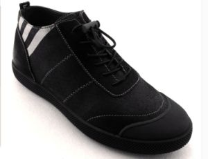 Black fashion Comfortable Real Leather Shoes (CAS-061) pictures & photos