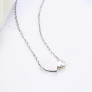 925 Sterling Silver Luminous Hearts Feature Pendants Necklace for Women Fine Jewelry pictures & photos
