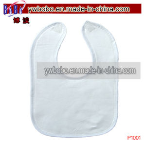 Baby Items Baby Garment Baby Apron Bibs White Bib (P1001) pictures & photos