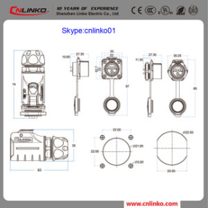 Cnlinko IP65 Electriacl Connector Wire Connector Male Plug for Power Equipment pictures & photos