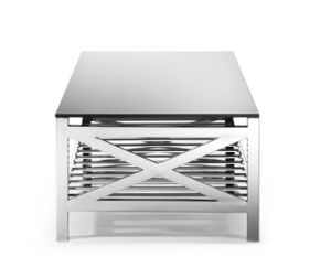 Hotel Side Table, Living Room Side Table, Black Glass Plate Side Table T-68 pictures & photos