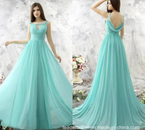 2017 Chiffon Evening Dress A-Line Beading Party Prom Dresses Ld1547 pictures & photos