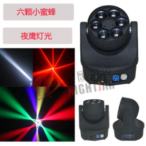 LED 6*15W 4in1 RGBW LED Bee Eye Moving Head Light pictures & photos