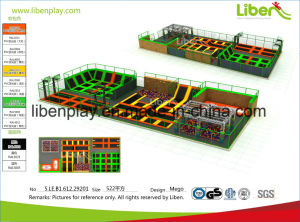 Factory Outdoor Large Trampoline Park with Basketball Hoop pictures & photos