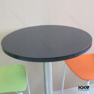 30′′ Round Black Stone Indoor Table Set with 2 Seaters pictures & photos