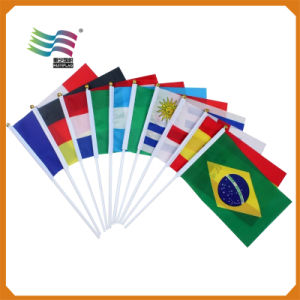 Promotion Gifts Printing Polyester National Hand Flag (HYHF-AF015) pictures & photos