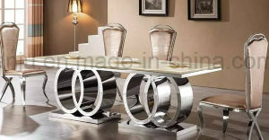 Dining Room Furniture (240*120 Long) Stainless Steel Marble Dining Table (A6688-1#) pictures & photos