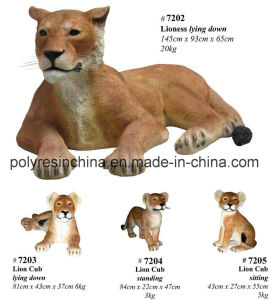 Fiber Glass Lion Family for Garden Decoration pictures & photos