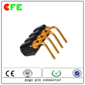 Customized 4pin Right Angle Spring Connector Contact pictures & photos