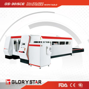 Full Closed Fiber Laser Cutting System with Exchangable Table pictures & photos