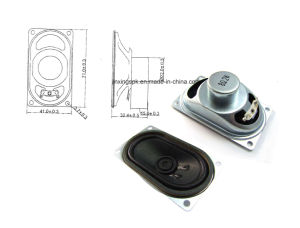 40*70mm 45ohm 1-3W TV or Computer Speaker with RoHS pictures & photos