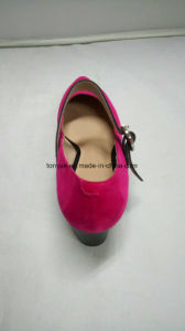Lady Color Kid Sudue Flat Bottom Comfortable Causual Pointed Hand Made Shoe pictures & photos