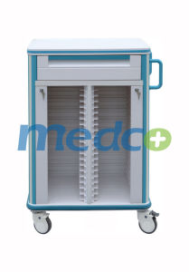 ABS Double Medical Patient File Cart Document Record Trolley pictures & photos