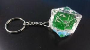 3D Logo Acrylic Keychain, Cube Keychain, Ice Cube Keychain pictures & photos