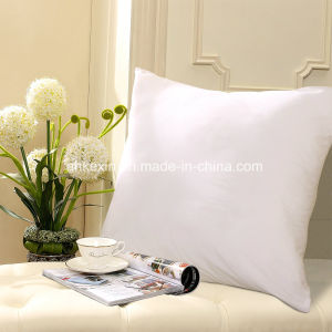 6cm White Duck Feather Pillow Insert with Cotton Fabric pictures & photos