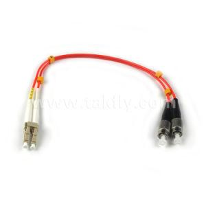 2.0mm PVC Optical FC-FC Fiber Jumper Sm Duplex Fiber Optic Patch Cord pictures & photos