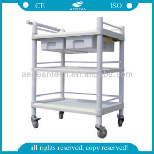 AG-Utb07 High Quality Plastic Hospital and Clinic Use ABS Utility Cart pictures & photos