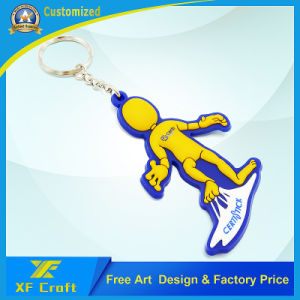 Professional Customized 2D/3D PVC Rubber Key Holder/Key Ring Tag for Souvenir (XF-KC-P24) pictures & photos