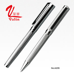 High Quality Silver Color Metal Gift Pen Souvenir on Sell pictures & photos