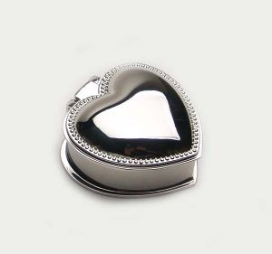 Silver Plated Jewellery Box Trinket Box with Heart Shape pictures & photos