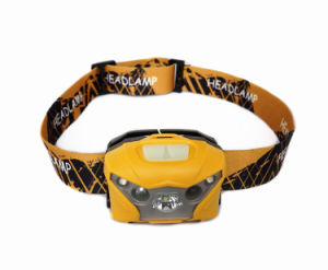 USB Port Rechargeable All Vision Sensitive-Control LED Headlamp (Yellow) pictures & photos
