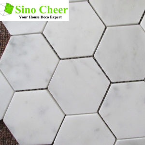 Carrara White Marble Hexagon Mosaic Polished Wall Tile pictures & photos