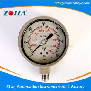 Filled Oiled Stainless Steel Pressure Manometers pictures & photos