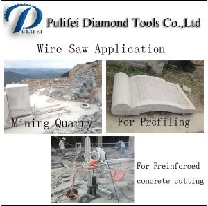 Stone Mining Quarrying Profiling Freinforced Concrete Cutting Wire Saw pictures & photos
