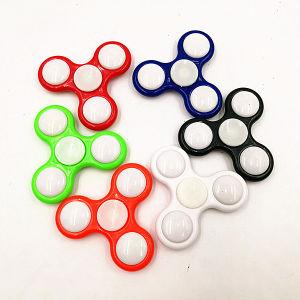LED Fidget Spinner Hand Spinner Finger Spinner Toys LED Metal Fight Tri Digit Air Aluminum EDC Bearing Brass Spinners pictures & photos