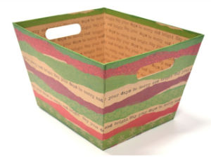 Christmas Theme Paper Storage Boxes with Handle pictures & photos