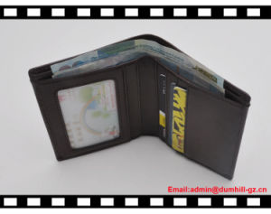Soft Top Genuine Leather of Men Slim Wallet pictures & photos