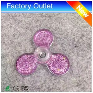 Custom Transparent Flip Fidget Spinner Quicksand Fingertip Gyro pictures & photos