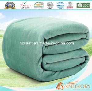 Polyester Microfiber Plain Flannel Fleece Blanket pictures & photos