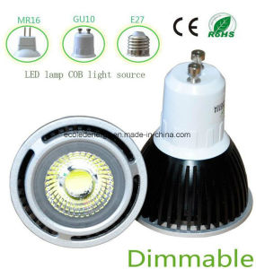 Dimmable COB 3W GU10 LED Spot Light pictures & photos