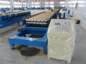 Newest Construction Steel Tile Roofing Cold Roll Forming Machine pictures & photos