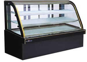 Hot Sale Double Arc Curved Glass and Marble Cake Counter/Cake Showcase pictures & photos