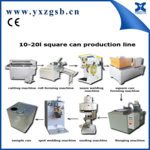 Semi-Automatic Big Rectangular Paint Tin Can Production Line pictures & photos