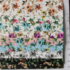 Printed Flower PU Leather for Bags (A840) pictures & photos