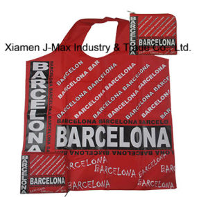 Foldable Shopper Bag, Promotion Bags, Barcelona Word Style, Reusable, Lightweight, Grocery Bags and Handy, Gifts, Promotion, Tote Bag, Decoration & Accessories pictures & photos