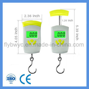 Electronic Postal Fishing Traval Scales with Weight Lock Max 110lb 50kg Digital Hanging Luggage Scales pictures & photos