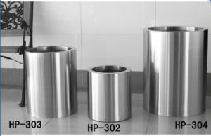 201/304/316 Stainless Steel Cylindrical Round Flower Pots with Tree Planter pictures & photos