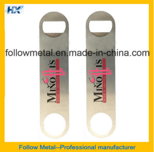 Zinc Alloy Bar Blade Bottle Opener with 4c Print Logo pictures & photos