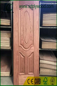HDF Mould Door Skin Laminated Natural Veneer pictures & photos