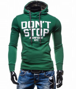 Mens Slim Fit Jacket Outwear Sweater Warm Hooded Sweatshirt (A554) pictures & photos