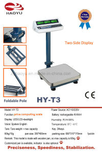 Mini Tcs-T3 Series Electronic Digital Platfrom Price Scale 60kg pictures & photos