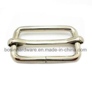 Rectangular Iron Metal Slide Buckle with Pin pictures & photos
