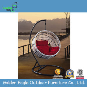 Hot Sale Modern Garden Rattan Swing in Special Round Shape