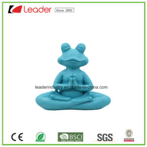 Polyreisn Decorative Yoga Frog Statue with Blue Color for Home Decoration and Garden Ornaments pictures & photos