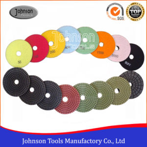 100mm Diamond Wet Polishing Pad for Stone with Grade A pictures & photos